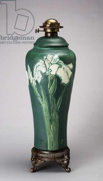 Lamp base, 1903 (stoneware (conventional mat glaze line))