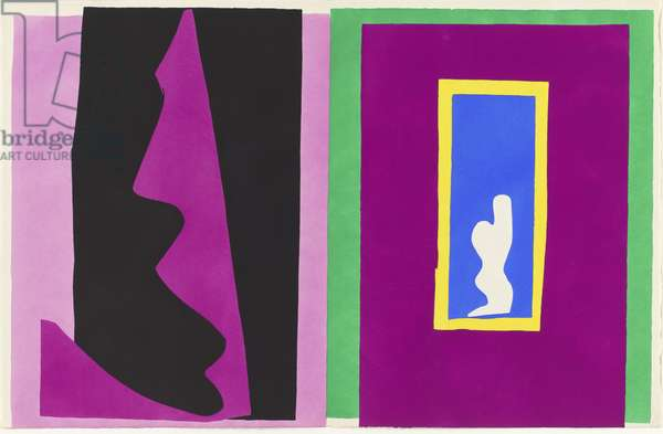 Destiny, illustration from the portfolio 'Jazz', 1947 (colour stencil print)