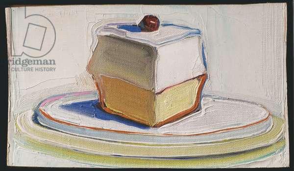 Cake, 1963 (oil on canvas on panel)