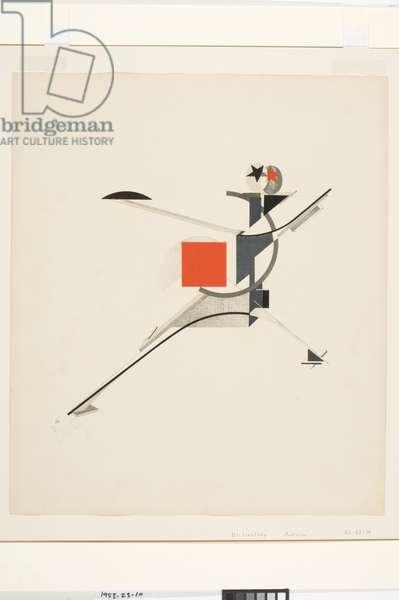 New Man, 1923 (colour litho)