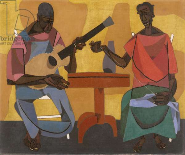 Singing and Mending, 1948 (oil on canvas)