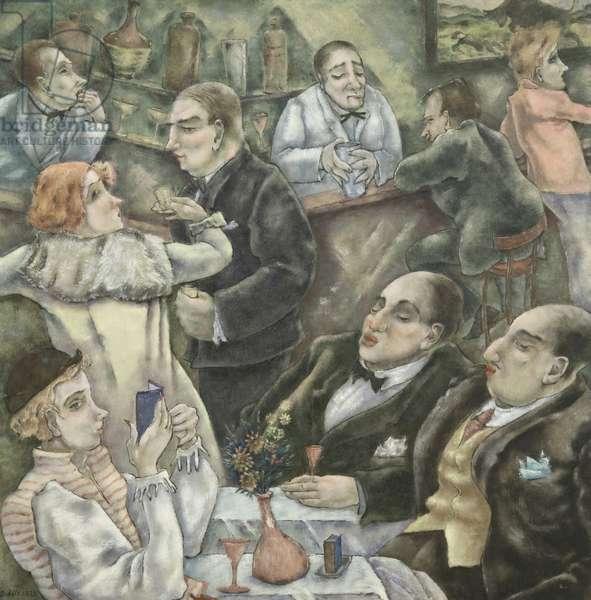 Whoopee at Sloppy Joe's, 1933 (oil on canvas)