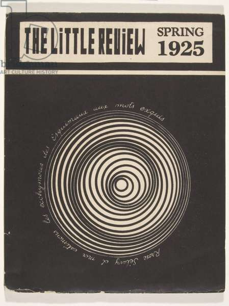 """""""Project for the Rotary Demisphere"""", The Little Review (vol. 11, no. 1) 1925 (litho)"""