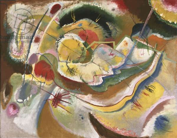 Little Painting with Yellow (Improvisation) 1914 (oil on canvas)