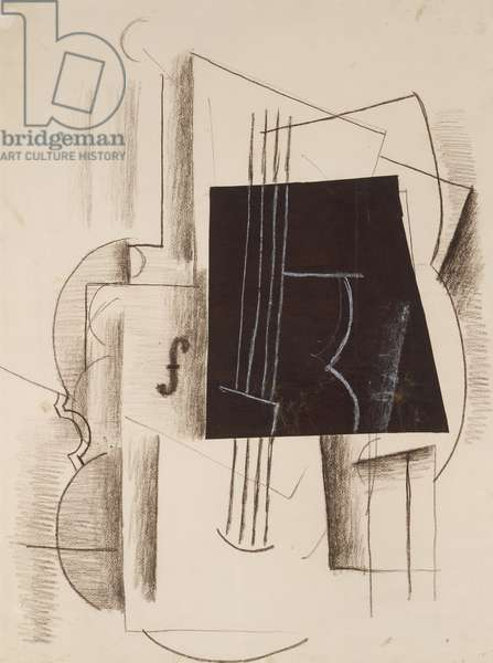Still Life, 1912 (charcoal, crayon, cut paper & graphite on paper)