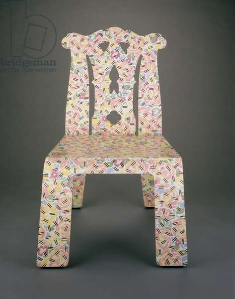 """Chippendale"" Chair, designed 1978-84, made 1985 (bent laminated wood & plastic laminate)"