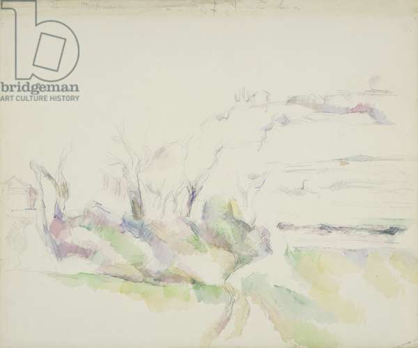 The House on the Hill, Near Aix, c.1895-1900 (w/c & graphite on white wove paper)