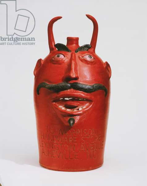 Devil Face Jug, c.1923-36 (painted stoneware)