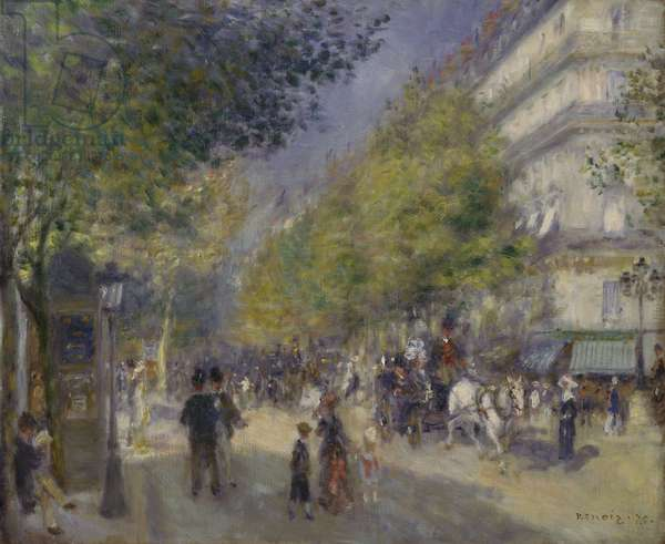 The Grands Boulevards, 1875 (oil on canvas)