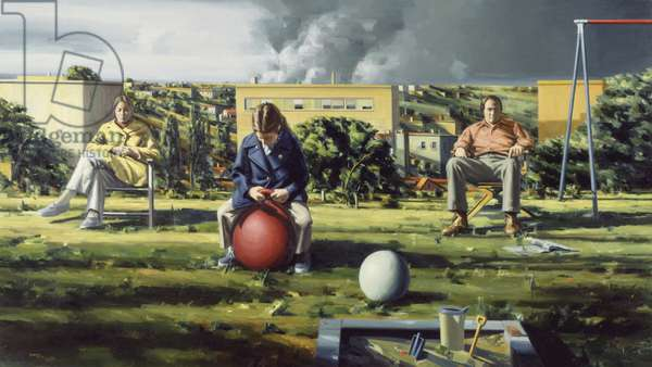 Figures in a Landscape, 1972-73 (oil on canvas)