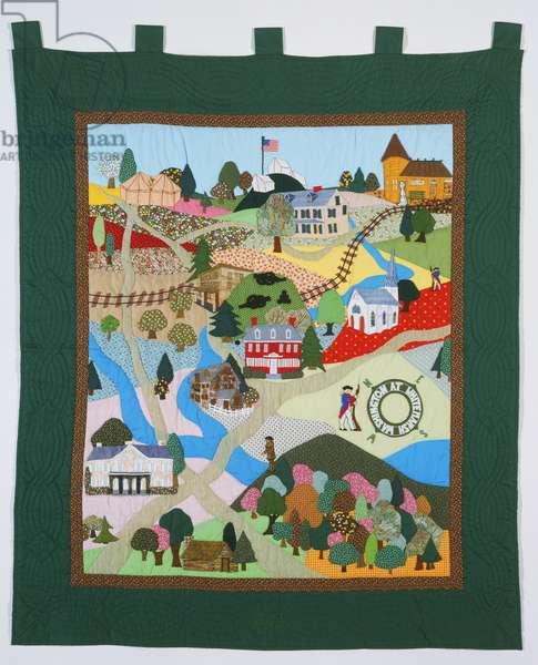 Quilt, 1975-76 (cotton & cotton-polyester)