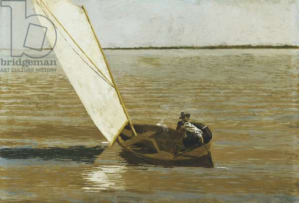Sailing, c.1875 (oil on canvas)