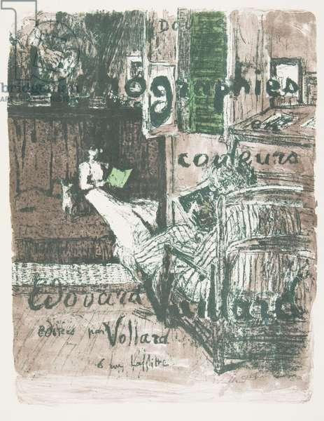 Title Plate for 'Douze Lithographies en Couleurs (Twelve Color Lithographs), from the album 'Paysages et Intérieurs' (Landscapes and Interiors) c.1898-99 (colour litho)