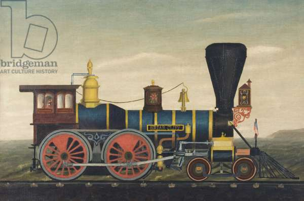 Locomotive Briar Cliff, c.1860 (oil on canvas)