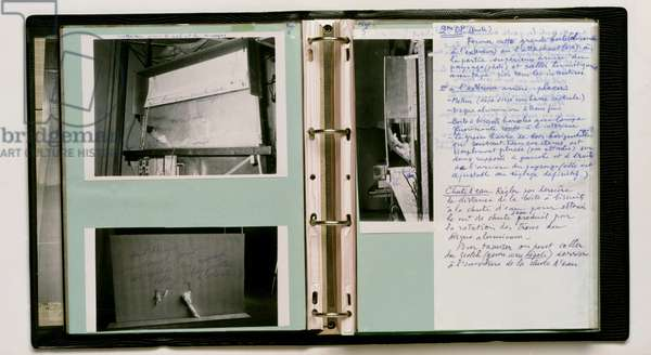 Manual of Instructions for the Assembly of Etant Donnes, 1966 (vinyl binder with photos, drawings & notes)