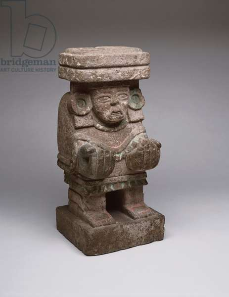 Goddess Figure, Teotihuacan, c.250-260 (volcanic stone with traces of pigment)