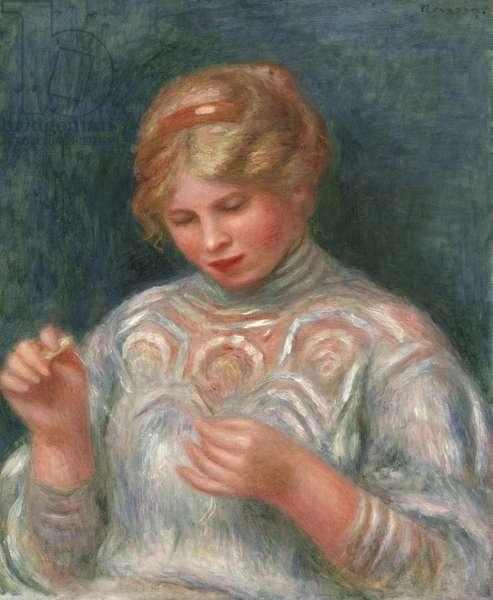 Girl Tatting, c.1906 (oil on canvas)