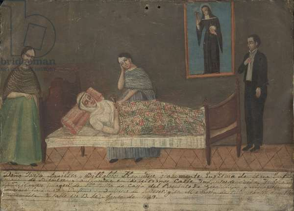Recovery from an Illness, 1849 (oil on tin)