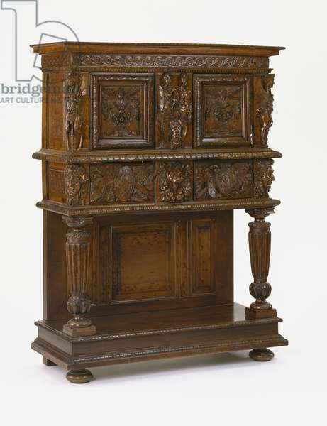 Dresser, possibly made in Burgundy, c.1560-90 (walnut, oak)