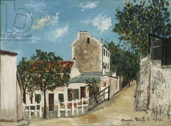 The Ancestral Property of Gabrielle d'Estrees (Le Lapin Agile), 1913 (oil on panel)
