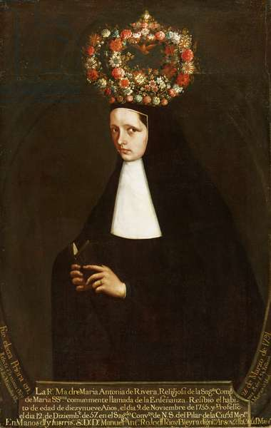Portrait of the Reverend Mother Maria Antonia de Rivera, c.1757 (oil on canvas)