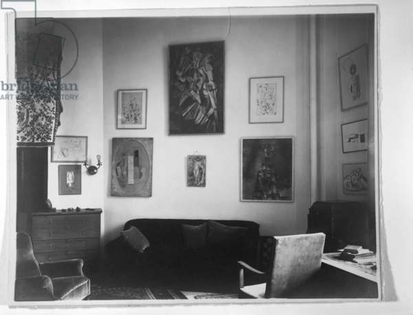 Interior, Arensberg's Apartment, New York, after May 1919 (casein silver print)