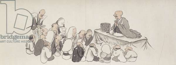 The Activities of the Twelve Months, 1794 (ink & colour on paper, mounted as a handscroll)