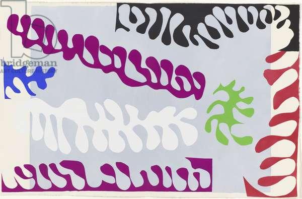 Lagoon I, illustration from the portfolio 'Jazz', 1947 (colour stencil print)