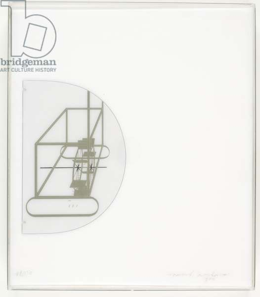 In the Infinitive, 1966 (plexiglas case with screenprint and facsimile notes)