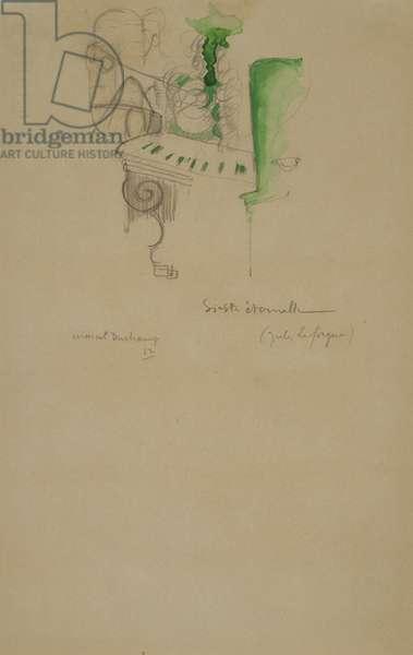 Eternal Siesta (Sieste eternelle), 1911 (graphite, opaque w/c & crayon on light tan wove paper)
