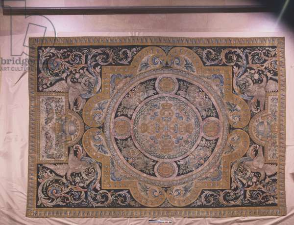 Carpet, made by the Savonnerie carpet manufactory, Paris, 1670-77 (wool & linen)