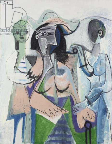 Woman and Children, 1961 (oil on canvas)