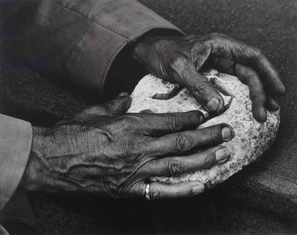 Hands of Georges Braque, Varengeville-sur-Mer, 1957 (gelatin silver print)