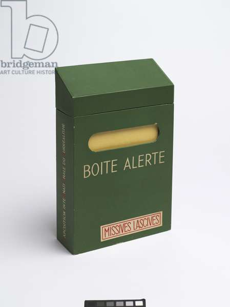 Boîte alerte (Emergency Box), 1959 (cardboard box) (see also 451046, 451047, 451048, 451049, 451050, 451051 & 451052)