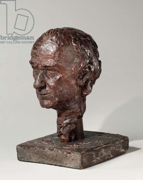 Head of William Rush, 1876-77 (pigmented wax, wood, plaster, and nails)