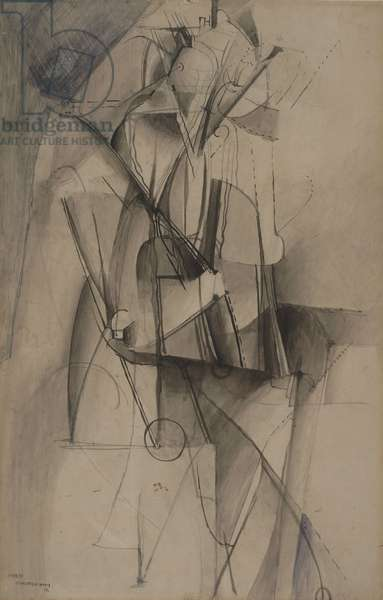 Virgin (No. 2) 1912 (pen & ink with ink wash, pencil and w/c on Bristol paper)