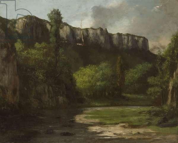 Landscape at Ornans (oil on canvas)