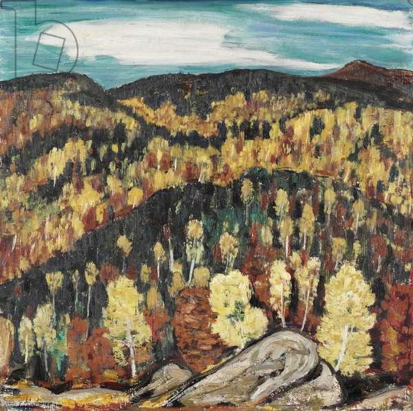 Maine Landscape, 1909 (oil on cardboard)