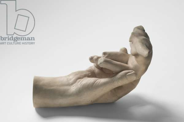 Hand of Rodin Holding a Torso, cast by Paul Cruet (1880-1966), 1917 (plaster)