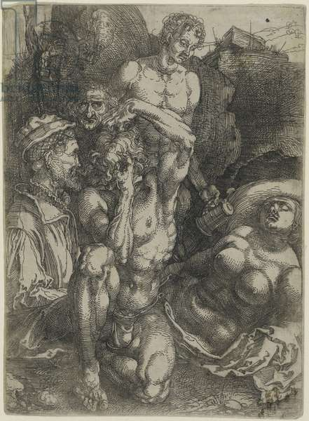 Study of Five Figures, c.1515 (etching with plate tone)
