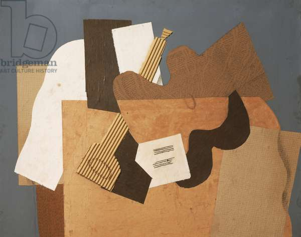 Musical Forms, 1918 (charcoal, cut paper, corrugated cardboard & graphite on board)
