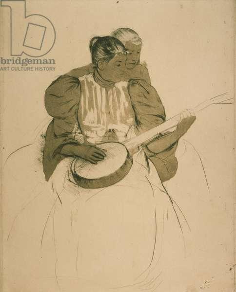 The Banjo Lesson, c.1893 (drypoint & aquatint)