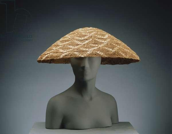 Woman's Hat, 1966 (braided straw)