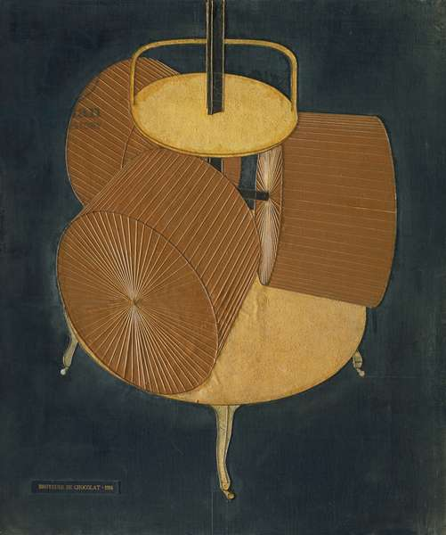 Chocolate Grinder (No. 2) 1914 (oil, graphite & thread on canvas)