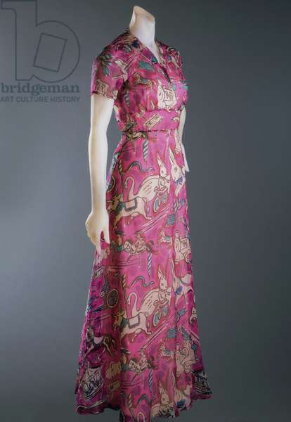 Dinner Dress, Summer 1938 (printed silk)