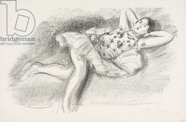 Reclining Dancer, 1925-26 (transfer litho)