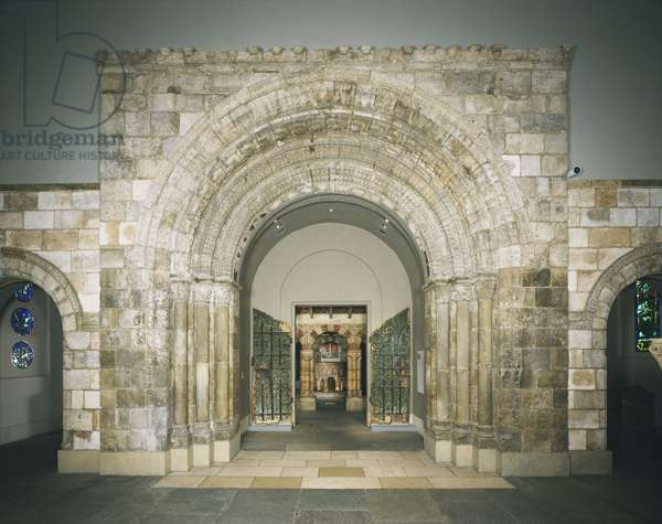 Portal from the Abbey Church of Saint-Laurent, built c.1120-50 (photo)