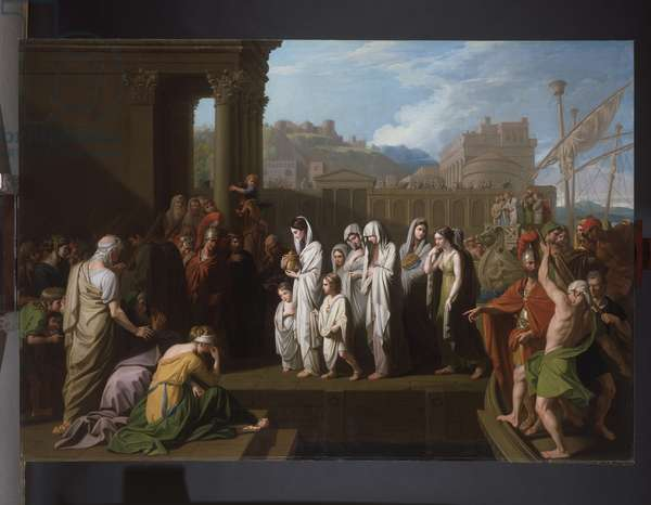 Agrippina landing at Brundisium with the Ashes of Germanicus, 1770 (oil on canvas)