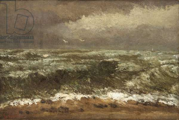 Waves, c.1870 (oil on canvas)
