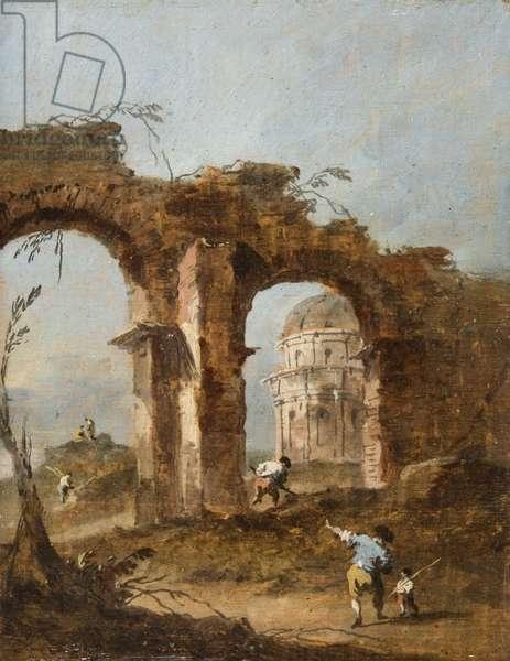 Capriccio, c.1775-80 (oil on panel)